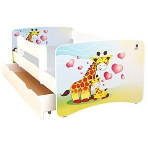 LIT COMPLET Best For Kids - Lit de couleur blancheavec avec 10