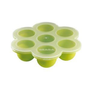 CONSERVATION REPAS BEABA Multi Portions silicone vert