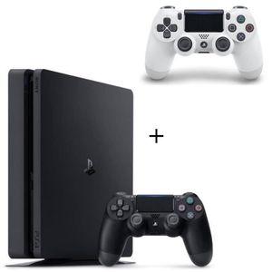 CONSOLE PS4 Pack PS4 500 Go Noire +  2ème Manette DualShock 4