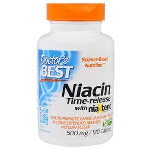 CIRCULATION SANGUINE Doctor's Best, Real Niacine 500 mg, 120 comprimés