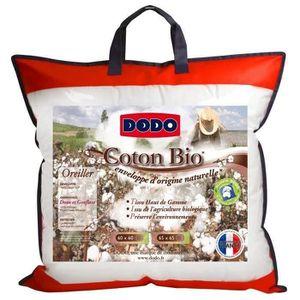OREILLER DODO Oreiller coton Bio - 60 x 60 cm - Blanc