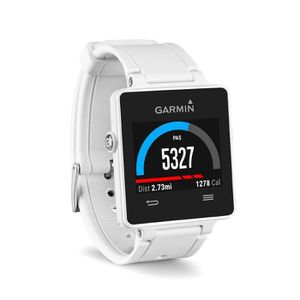 MONTRE OUTDOOR - MONTRE MARINE Garmin Vivoactive Montre GPS connectée blanche Sma