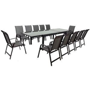 Ensemble table et chaise de jardin Salon de Jardin extensible 200/320