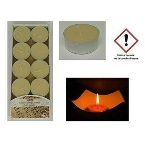 Promol Candle Lot de 10 Bougies Pilier Dor/é 150 x 68 mm