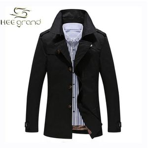 Imperméable - Trench HEE GRAND Homme Manteau Trench de Coupe Vent Br...