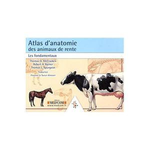 AUTRES LIVRES Atlas d'anatomie des animaux de rente : les fondam