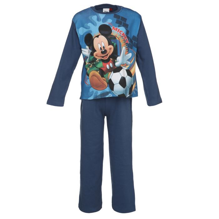 mickey pyjama enfant gar on bleu achat vente pyjama. Black Bedroom Furniture Sets. Home Design Ideas