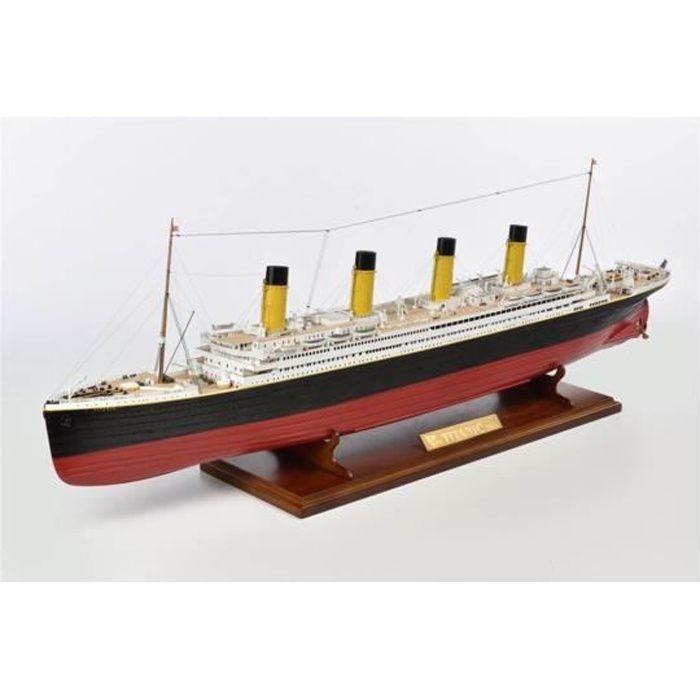Maquette bateau en bois : RMS Titanic 1912 aille Unique Coloris Unique