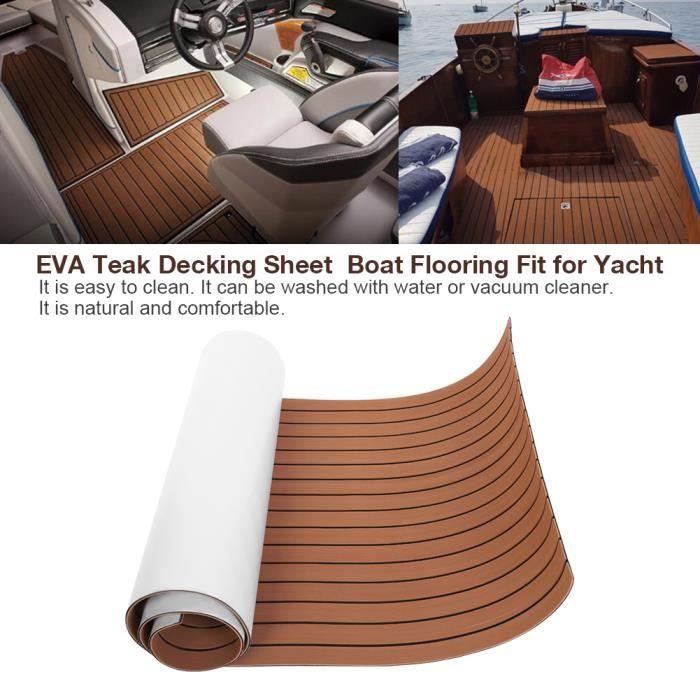 Revêtement de sol en teck EVA plancher Revêtement de bateau pour terrasse le yacht