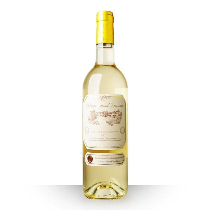 Château Grand Rousseau 2011 Blanc 75cl AOC Bordeaux (Kosher) - Vin Blanc