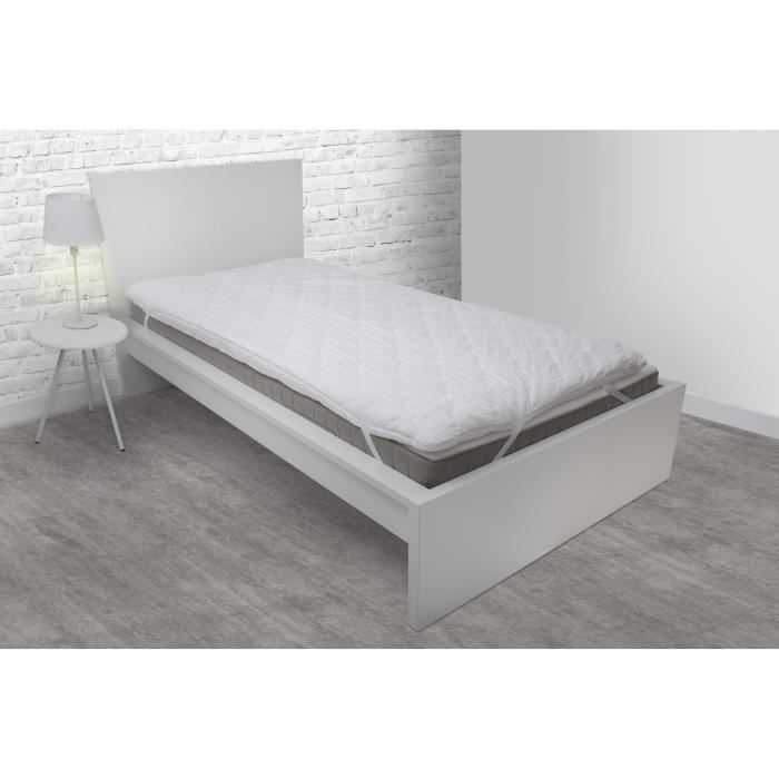 ABEIL Sur-matelas 90x200 cm - Mousse alvéolée 6 cm - Confort optimal