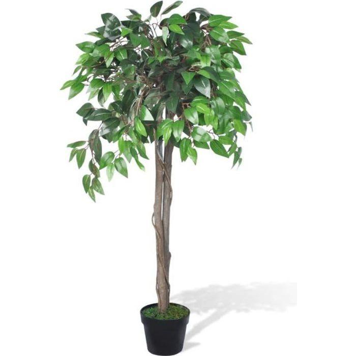 Palmier Artificiel Plastique 110 cm- Plante Arbre Artificiel décoration Jardin Décoration pour Intérieur et Extérieur-avec Pot♕1080