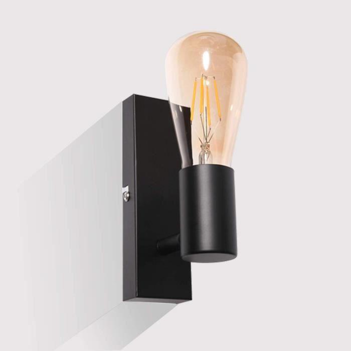 Kimjo Plafonnier LED 1 Spot Orientables, Applique Murale Moderne Métal Noir, Spot Murale Vintage Rétro pour Maison Salle à Mange460