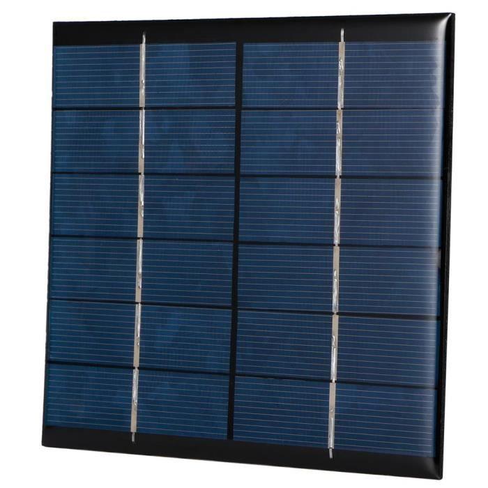 Panneau solaire portable, Module de panneau de petite cellule solaire bricolage 2.5W 6V 0.4 (A), Radios solaires pour lampes