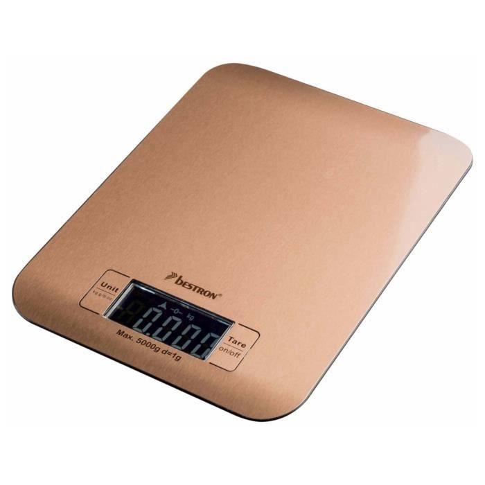 Bestron Balance électronique de cuisine AKS700CO 5 kg Cuivre