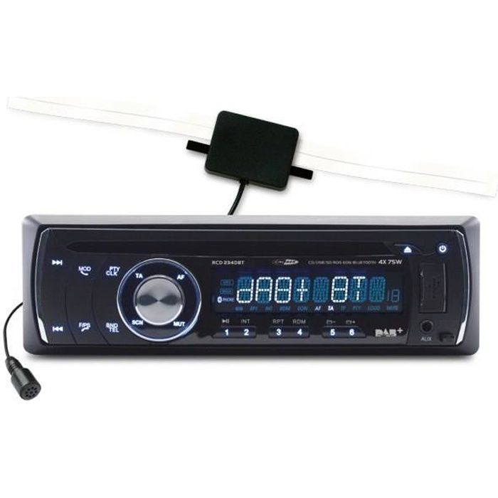 CALIBER Autoradio RCD234DAB-BT - CD DAB et BT