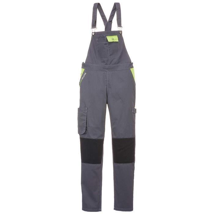 Fashion Sécurité FASHION SECURITE - PEP's - Salopette de Travail - Femme - Gris (Gris/citron) - Taille: M (40/42) - 660142