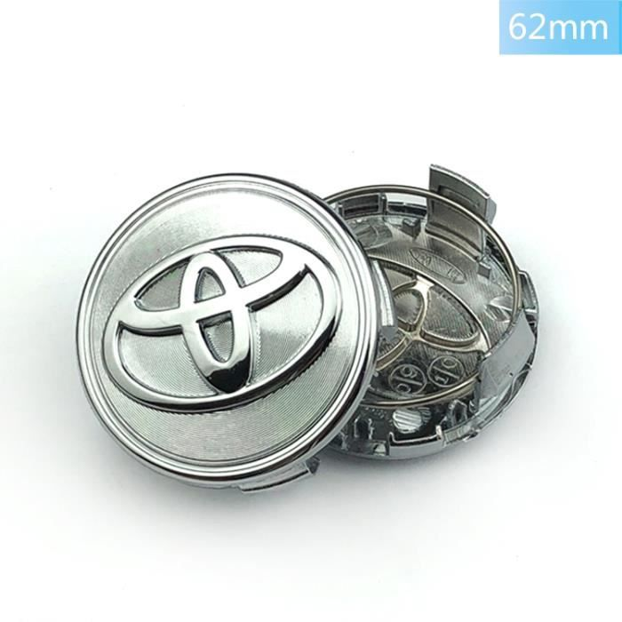 Chrome Centre Roue 4×OD62mm Toyota Cache Moyeux Pour Badge Logo