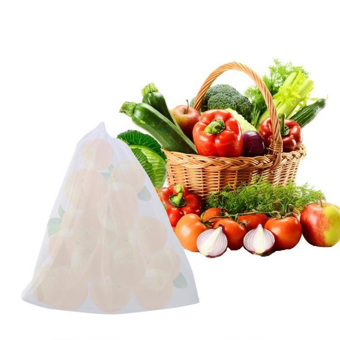 IFCOW® Grand sac de tamisage réutilisable sac de passoire alimentaire à cordon de serrage en maille micron pour brassage à froid