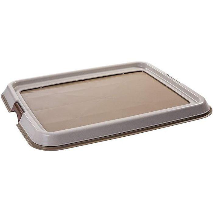 IRIS OHYAMA Plateau d'apprentissage à la propreté Pet Tray - FT-650 - Plastique - 65 x 55 x 4 cm - Beige - Pour chiot