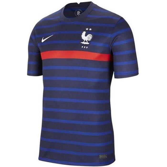 Nouveau Maillot Officiel de Football Enfant Nike France Domicile Euro 2020