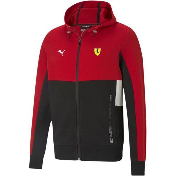 Sweatshirt à capuche Puma Ferrari Race Jacket - rouge vif - S