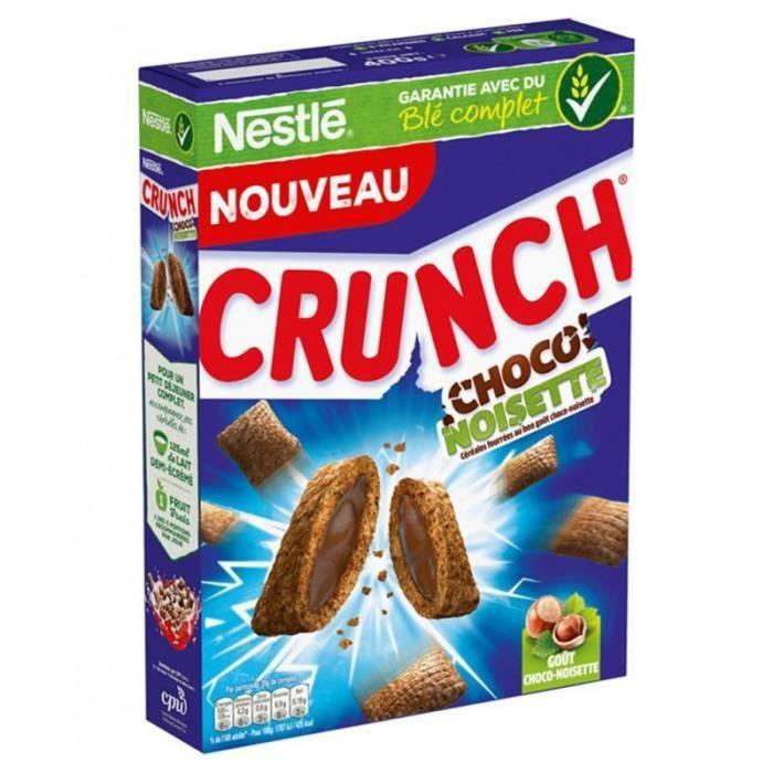Nestlé Crunch Choco Noisette 400g (lot de 4)