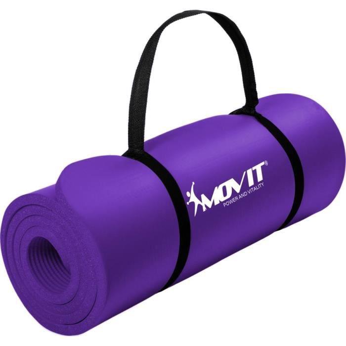 MOVIT Tapis de gymnastique 190cm x 60cm x 1,5cm, violet