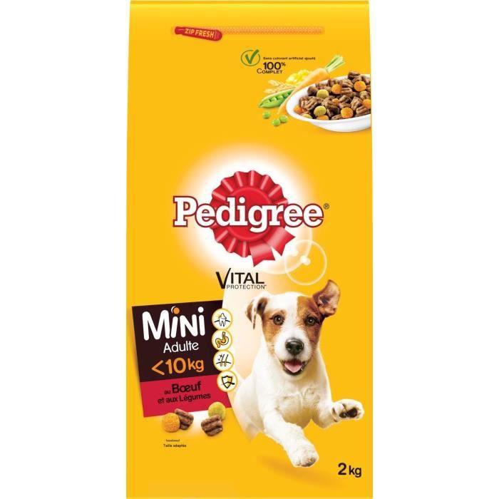 PEDIGREE Mini - Croquettes au bœuf et aux Légumes - Pour chien adulte de petite taille