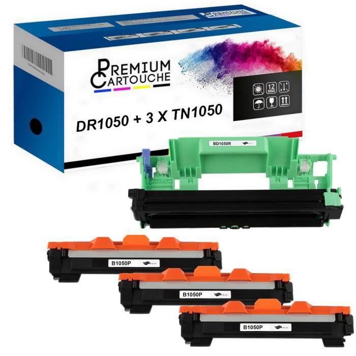 Toner DR+TN-1050 Tambour + Toner x3 Compatible pour Fuji Xerox DocuPrint P115BFuji Xerox DocuPrint P115WFuji Xerox DocuPrint M115WFu