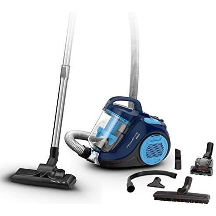 Rowenta Swift Power Cyclonic Home & Car Aspirateur sans Sac Design Compact Filtre 99.98% Cyclonic Bleu RO2981