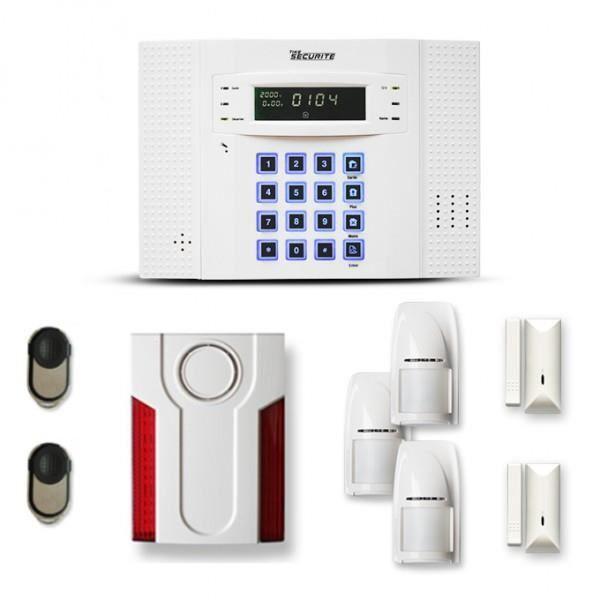 Alarme maison sans fil DNB 2 à 3 pièces mouvement + intrusion + sirène extérieure - Compatible Box internet