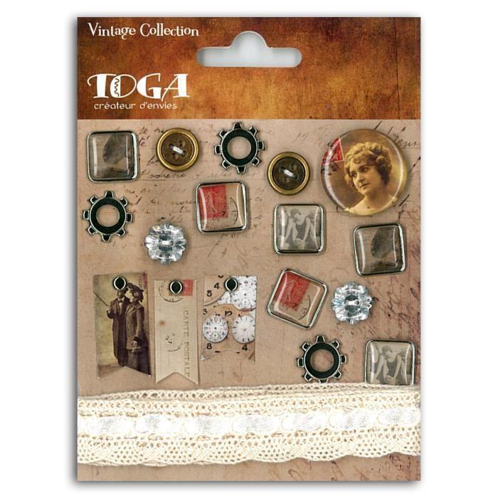 TOGA Pack de Embellissements Vintage