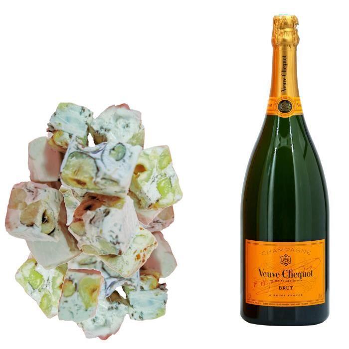 Assortiment Champagne Veuve Clicquot - Carte Jaune & 150g de Nougadets Noisette - Jonquier Deux Frères