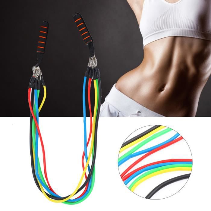 VGEBY® 11 Pcs- Set bande elastique fitness musculation Sport de resistance traction large kit sangle Elastiband exercice -CYA