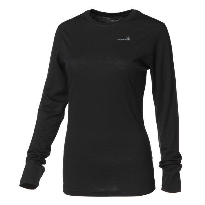 WANABEE Sous-vêtement de randonnée Ld WoolwarSml - Femme - Noir