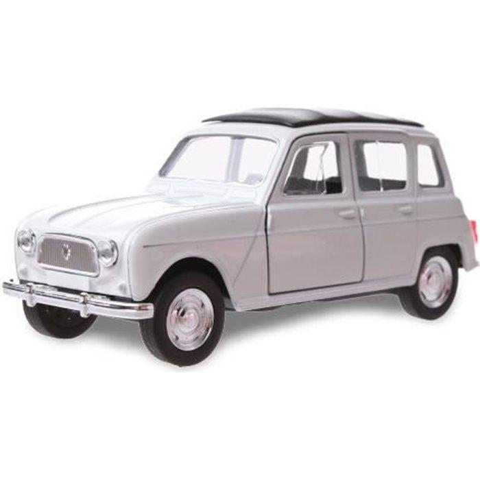Welly maquette Renault 4 garçons 12 cm acier blanc