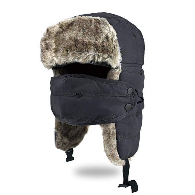 Homme femme fausse fourrure trappeur ski russe ushanka chapeau 4 tailles