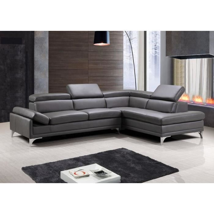 canap d angle cuir chocolat aero position angle angle gauche achat vente canap sofa. Black Bedroom Furniture Sets. Home Design Ideas