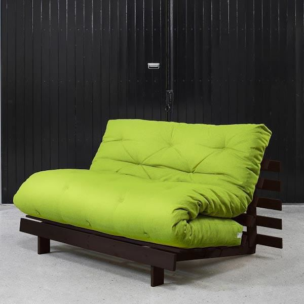 convertible koo 140 weng futon pistache achat vente canap sofa divan cdiscount. Black Bedroom Furniture Sets. Home Design Ideas