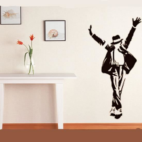 Sticker mural michael jackson achat vente stickers for Jackson 5 mural