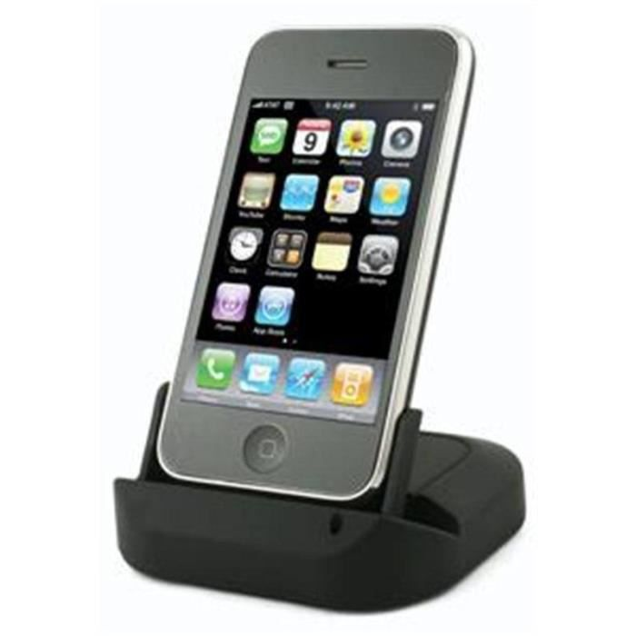 socle de chargement noir iphone 4 4s pour. Black Bedroom Furniture Sets. Home Design Ideas