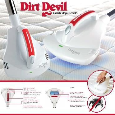 buse aspi anti acariens uv et vibrations dirt devil achat vente aspirateur traineau. Black Bedroom Furniture Sets. Home Design Ideas