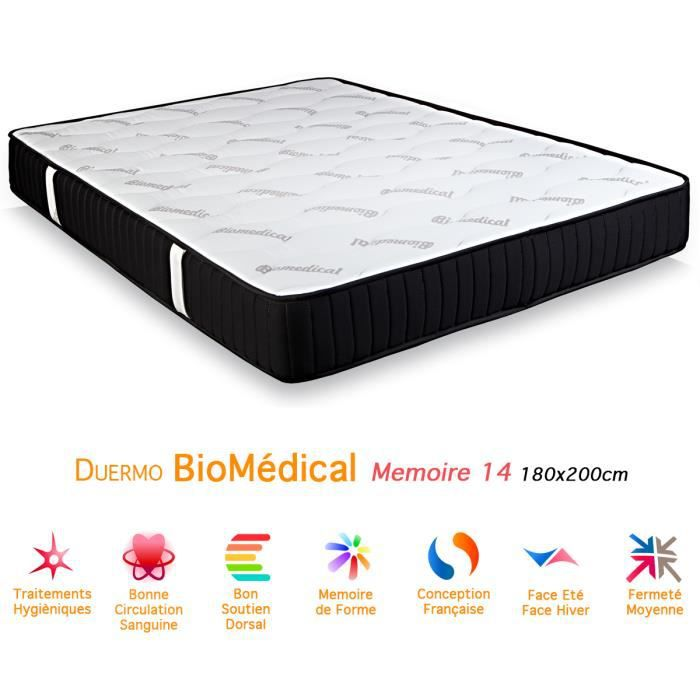 matelas duermo biom dical m moire de forme 14 180x achat. Black Bedroom Furniture Sets. Home Design Ideas