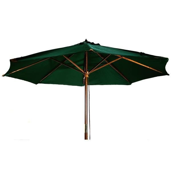 parasol en bois 3m50 vert achat vente parasol. Black Bedroom Furniture Sets. Home Design Ideas