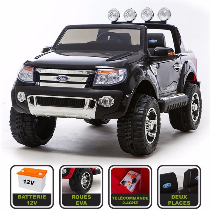 voiture electrique 2 places pas cher ford voiture lectrique enfant 4x4 ranger 12v 2 places si. Black Bedroom Furniture Sets. Home Design Ideas
