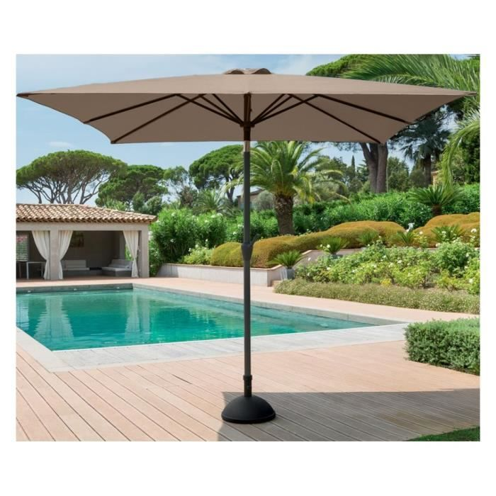 parasol inclinable fidji hesperide carre taupe achat vente parasol parasol fidji carre taupe. Black Bedroom Furniture Sets. Home Design Ideas