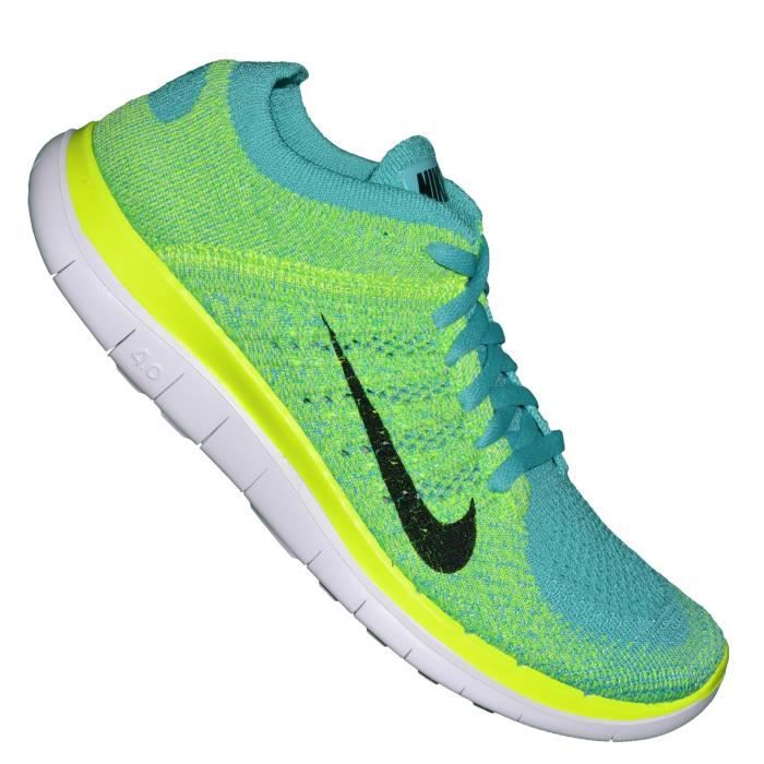 nike basket running femme free flyknit 4 0 vert 300 rouge vert achat vente basket. Black Bedroom Furniture Sets. Home Design Ideas