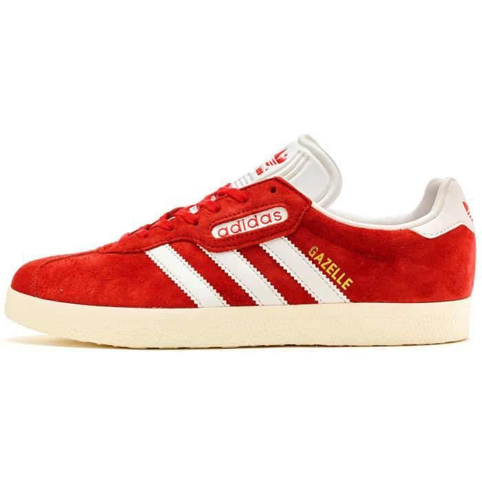 Adidas Originals Gazelle Super Daim Chaussures de sport en Rouge - Vintage Blanc BB5242 [UK 7.5 EU 41 1-3]