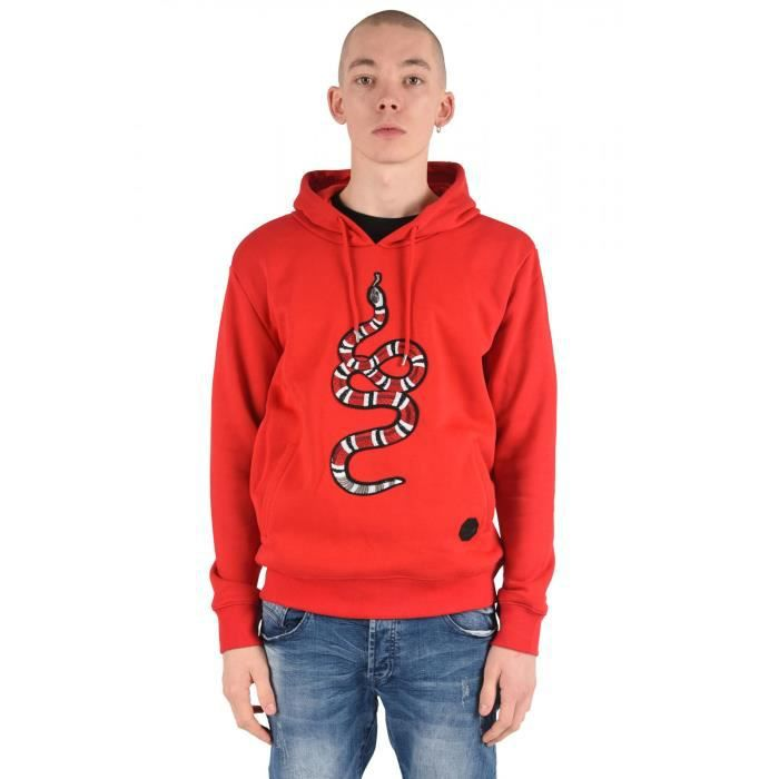 bd35ea2d61c67 Sweat à capuche snake Homme Project X Paris (XL - Rouge) Rouge ...